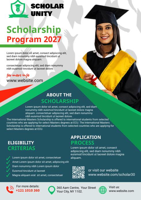 Scholarship Program Flyer A4 template