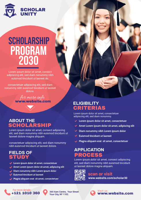Scholarship Program Flyer