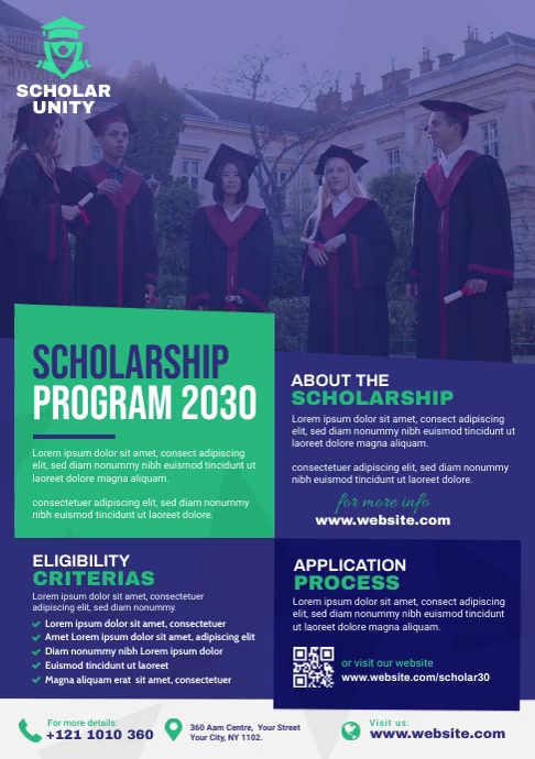 Scholarship Program Flyer Template A4