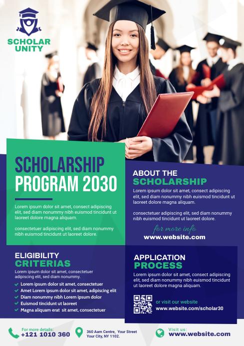 Scholarship Program Flyer Template A4
