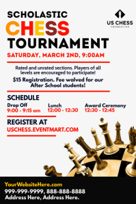 Scholastic Chess Tournament Template Poster