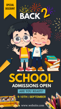 School, Admissions open, back to school Instagram Story template