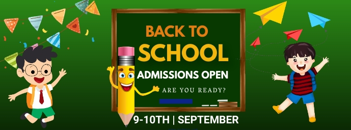 School, Admissions open, back to school Facebook-omslagfoto template