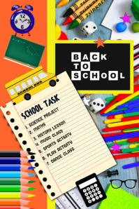 school, Back to school, flyer, poster