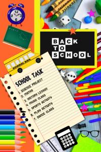 school, Back to school, flyer, poster