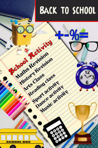 School, back to school poster flyer