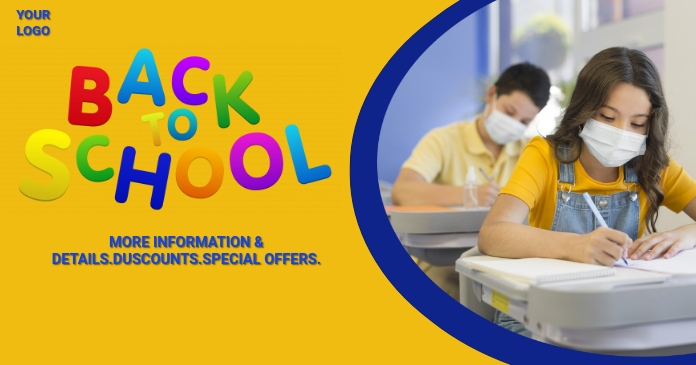 School,back to school,Admissions open Facebook Shared Image template
