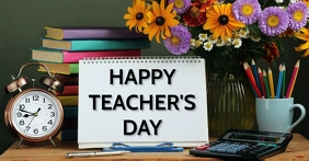 School,back to school,teacher's day Gedeelde afbeelding op Facebook template