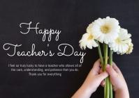 School,back to school,teacher's day Kartu Pos template