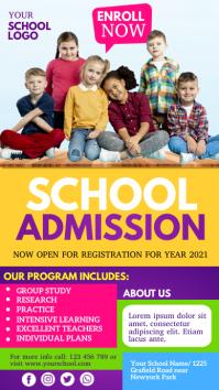 school admission, back to school, school Affichage numérique (9:16) template
