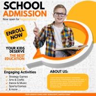school admission, back to school, school Instagram Post template