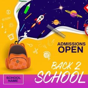 school admission,back to school Square (1:1) template