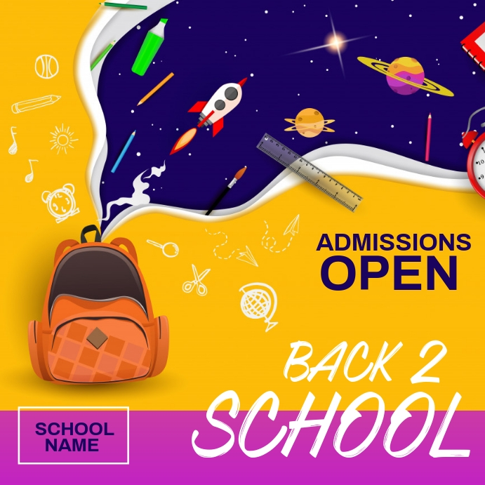 school admission,back to school Cuadrado (1:1) template