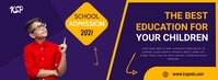 School Admission 2021 Facebook Banner / Best Zdjęcie w tle na Facebooka template