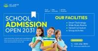 School Admission Ad Imagen Compartida en Facebook template