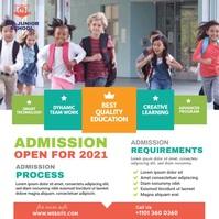School Admission Ad Publicación de Instagram template
