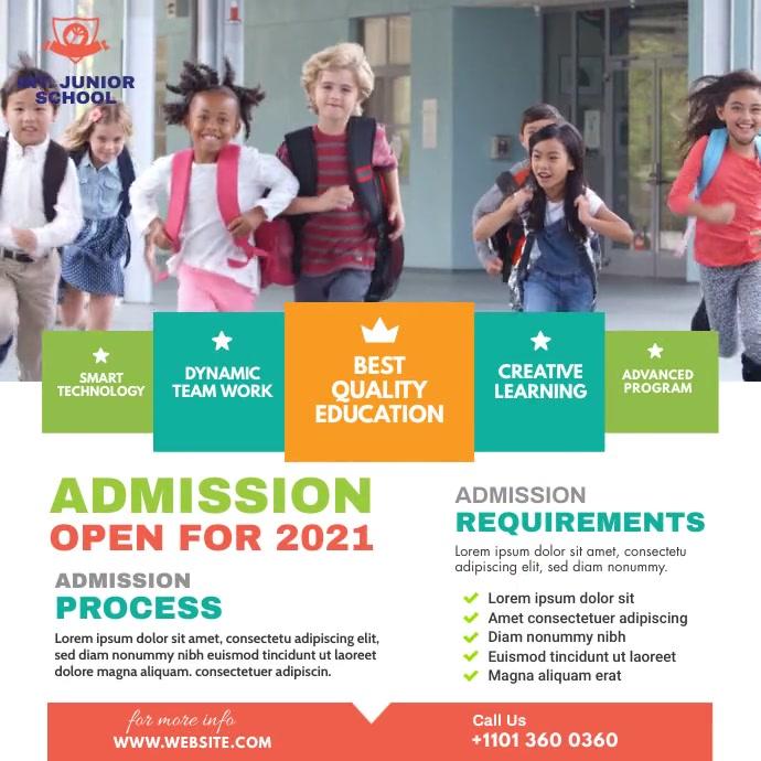 School Admission Ad Pos Instagram template