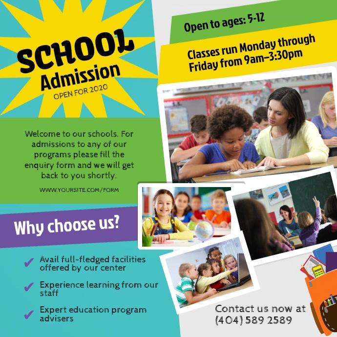 School Admission Ad Square Video