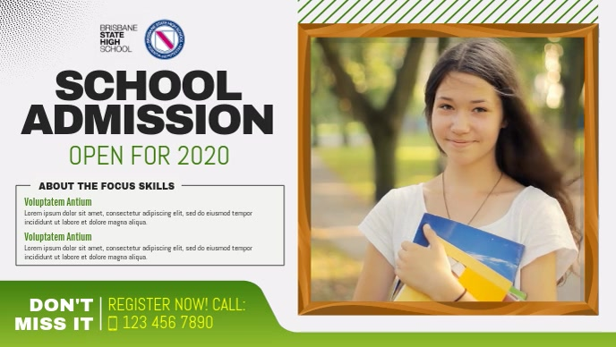 School Admission Advertisement Facebook Cover