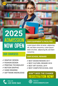 School Admission Banner template