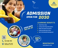 School admission banner Grote rechthoek template
