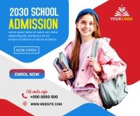 School admission banner Medium Rectangle template
