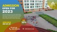 School admission banner post วิดีโอหน้าปก Facebook (16:9) template
