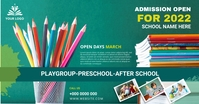 School admission banner post Facebook-advertentie template