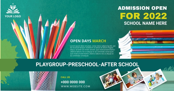 School admission banner post template