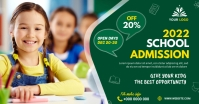 School admission banner post Facebook Shared Image template