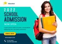 School Admission Banner Template Postal