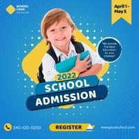 School Admission 徽标 template