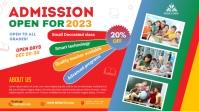 School admission Digital na Display (16:9) template