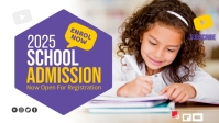 School Admission Facebook Cover Video (16:9) template