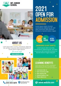 School Admission A4 template