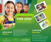 School admission Digital post Persegi Panjang Sedang template