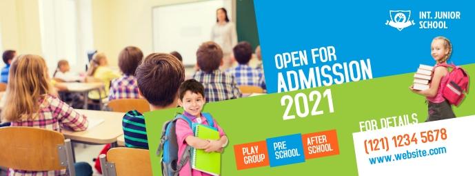 School Admission Facebook Cover Facebook-omslagfoto template
