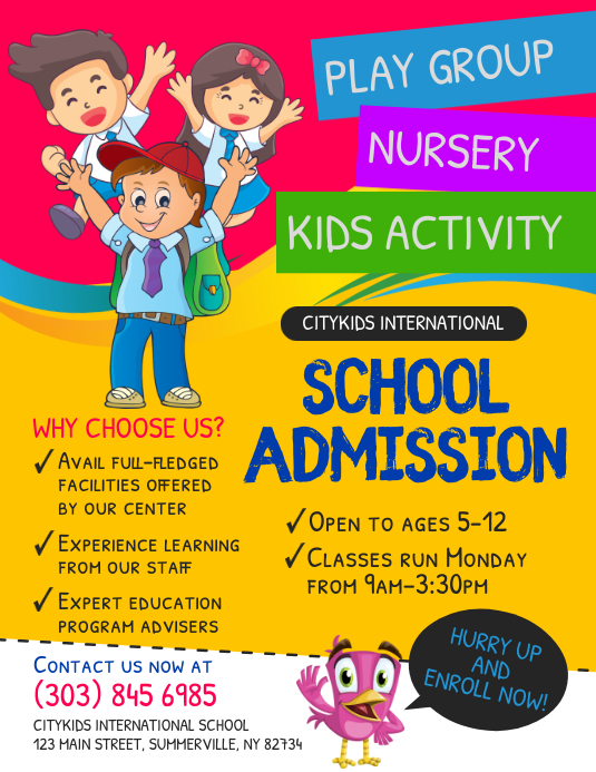 School Admission Flyer