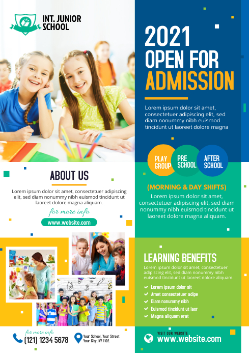 School Admission Flyer Template | PosterMyWall