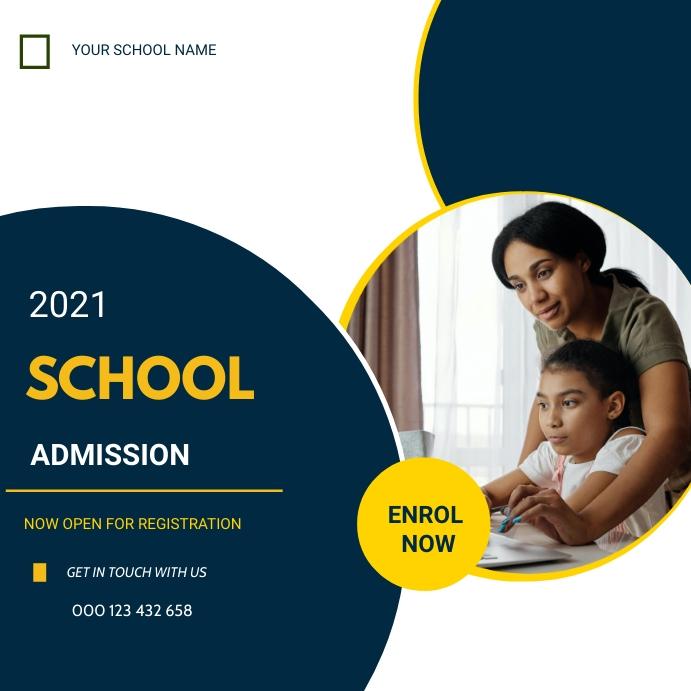 School admission flyer Instagram Post template