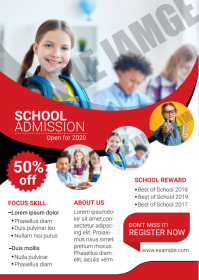 School Admission Flyer A6 template
