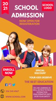 School admission flyer Instagram na Kuwento template