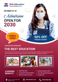 School admission flyer A4 template