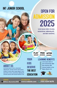 School admission Flyer Template Half Page Wide