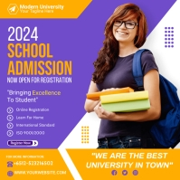 school admission flyer template Carré (1:1)
