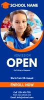 school admission flyer template Rack Card