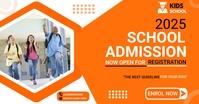 school admission flyer template โฆษณา Facebook