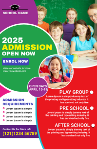 school admission flyer template Tabloïd