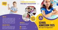 School Admission flyer Template Anuncio de Facebook