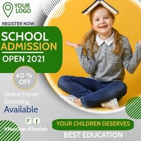 School admission open,Kids club Instagram Post template